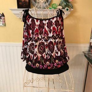 Grass Collection cold shoulder blouse Sz L